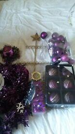purple christmas decoration bundle