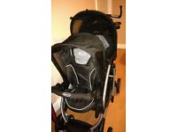 double twin buggy stroller pushchair brand new with car seat and base