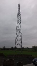 Wind Turbine Mast 100ft high.