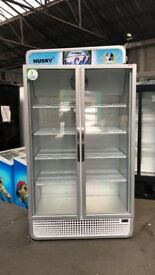 polar c10pro double door drinks fridge silver 3 months warranty excellent condition