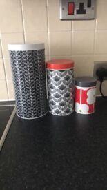 Orla Kiely kitchen storage jars