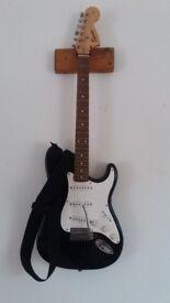 Fender squier strat black electric guitar MINT CONDITION