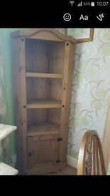 Solid pine corner unit