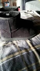 Short black ugg style boots 5/6