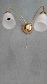 New Brass Light Fitting wall mounted with flexible arms