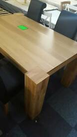 Schreiber solid oak dining table and chairs