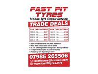 Mobile tyre fitting service central Glasgow area