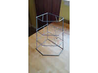 Chrome/metal corner plate rack / stacker. Never used & in brand new condition £5