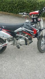 demon x 140 pit bike