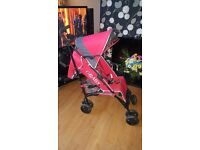 RED OBABY BUGGY/STROLLER ONLY USED FOR 4WEEKS IMMACULATE CONDITION LOOK AT PICS