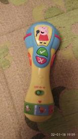 Peppa Pig singing microphone