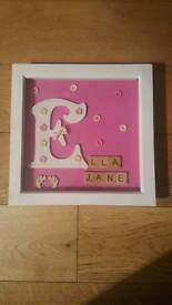 Personalised box frame gift
