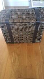 New Rattan storage basket hamper box