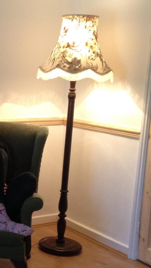Vintage Dark Wood Floor Lamp In Temple Meads Bristol Gumtree