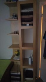 Ikea 2 standing shelf