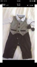 Boys christening outfit 6- 12