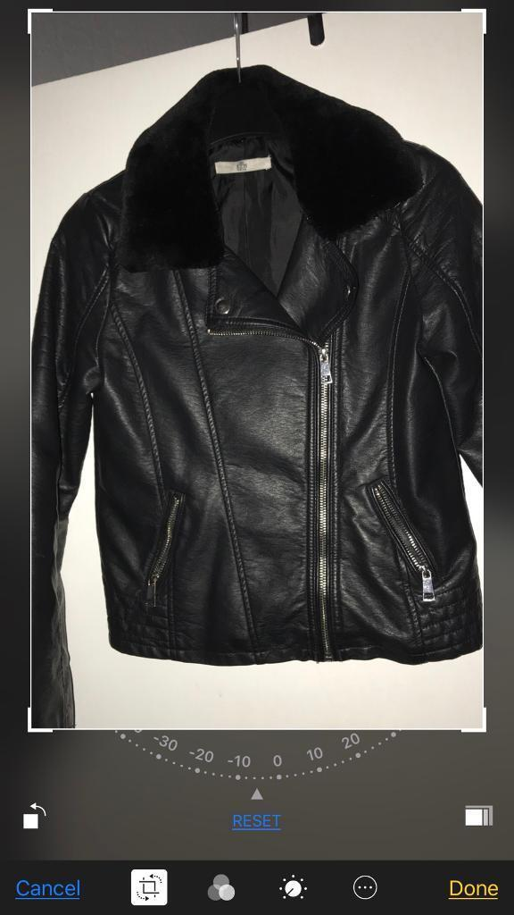 Marks and Spencer's girls leather jacket