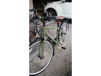 Ridgeback Speed 2016 - Hybrid Sports Bike, Olive Green.