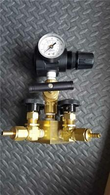 Coil Hose Pneumatic 4-valve Regulator Whitey Swagelok 3000psi Manifold