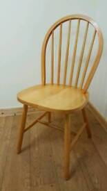 Six Wooden Pine Chairs