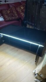 Brand new nlack high gloss tv unit with led light £125