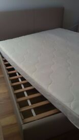 King size bed frame with storage boxes and King size mattress