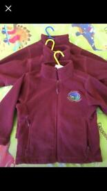 3 x Drakies primary fleece cardigans