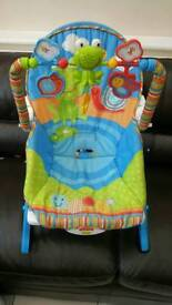 Fisher price baby rocker and