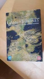 GOT game of thrones complete DVD Box Set First, Second & Third Series (1-3)
