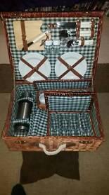 Immaculate vintage picnic hamper