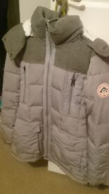 Grey superdry coat