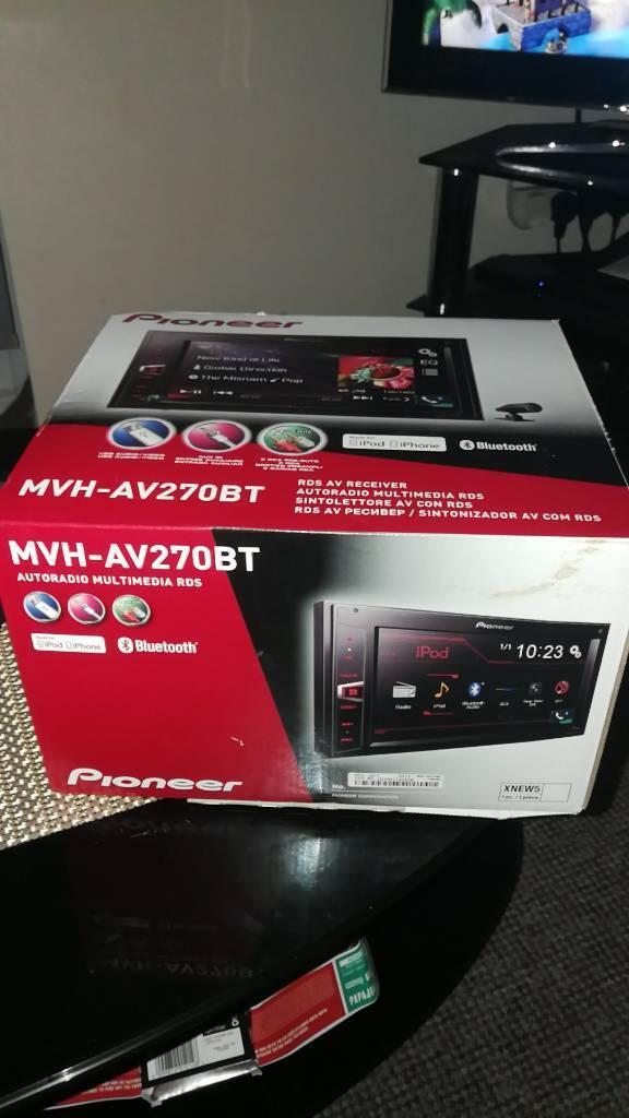 Pioneer mvh-av270bt touch screen head unit