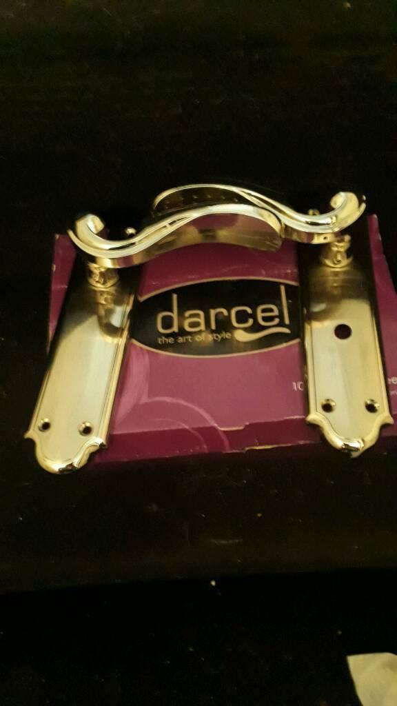 Darcel door handles brass