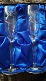 Crystal engagement glasses
