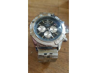 Stainless Steel Men's automatic watch Chronograph Chronomat Breitling