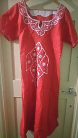 Red african dress