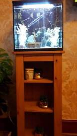 Fishtank and stand with tropical fish