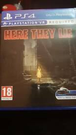 Ps4 HERE THEY LIE vr game