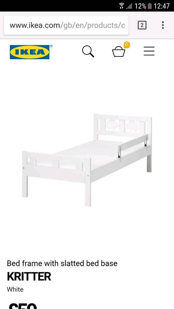 Children's toddler bed