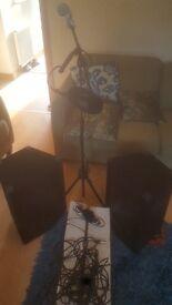 PA speakers +