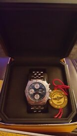 BARELY WORN MENS BREITLING CHRONO COCKPIT A1335812/C678 MENS WATCH WITH BLUE DIAL