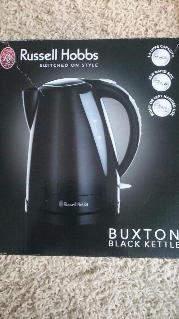 Russell hobbs black kettle 1.6ltr