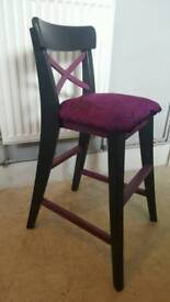 Upcycled childs chair / dining seat