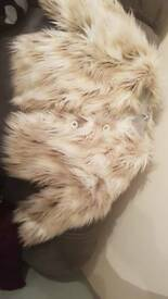 STUNNING GIRLS FUR NEXT COAT IMMACULATE AGE 9