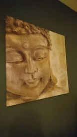 Two Buddha Canvases