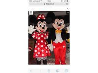 Mickey and Minnie mascot costumes