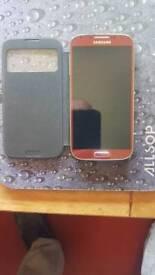 Samsung s4 phone aurora red immaculate unlocked.