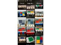 Lego tables/ duplo, compatible bases new! £30- each inc one rail & 4 container pots