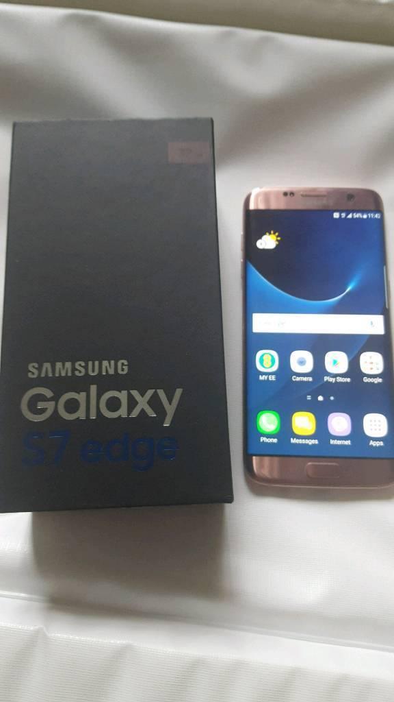 Samsung galaxy s7 edge pink gold ( under Samsung warranty)