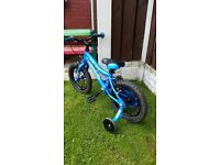 "Boys 14 "" bike with stabilizers in excellent condition can deliver for a small charge"